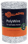 Gallagher North America G62004 Electric Fence Polywire, Ultra White, 1/16-In. x 656-Ft.