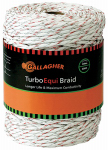 Gallagher North America G62174 Electric Fence Turbo Equibraid, Ultra White, 1/8-In. x 656-Ft.