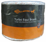 Gallagher North America G62176 Electric Fence Turbo Equibraid, Ultra White, 1/16-In. x 1,312-Ft.