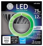 G E Lighting 96843 LED Floodlight Bulb, Indoor, 850 Lumens, 12-Watt