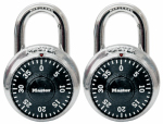 Master Lock 1500T 2-Pack  Matching Combination Padlock