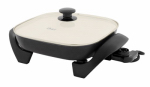 Sunbeam Products CKSTSKFM12W-TECO Electric Skillet, Non-Stick Ceramic Coating, 12 x 12-In.