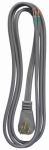 Ho Wah Gentin Kintron Sdnbhd 09726ME 6-Ft. 16/3 SPT-3 Gray Power Supply Replacement Cord