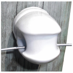 Tru Test 826051 Electric Fence Insulator, Porcelain Screw-In, Large
