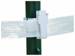 Tru Test 814717 Electric Fence Insulator, T-Post Tape, 1.5-In., 25-Pk.