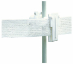 Tru Test 816066 Electric Fence Insulator, Rod Post Wide-Tape, White, 25-Pk.