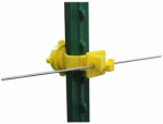 Tru Test 819047 Electric Fence Insulator, T-Post Screw-On, 25-Pk.