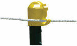 Tru Test 819728 Electric Fence Insulator, T-Post Topper, Yellow, 10-Pk.