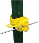 Tru Test 820018 Electric Fence Insulator, Wrap-Around T-Post Pinlock, 25-Pk.