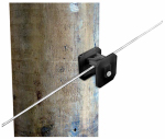Tru Test 820032 Electric Fence Insulator, Wood-Post Square, Black, 25-Pk.