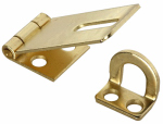 National Mfg/Spectrum Brands Hhi N102-053 1-3/4-Inch Dull Brass Safety Hasp