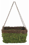 Panacea Products 83556 Hanging Basket, Natural Moss & Wicker, 13-In.