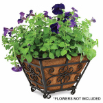 Panacea Products Corp-Import 83545 Quatrefoil Floor Planter With Coco Liner, 14-In.