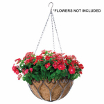 Panacea Products Corp-Import 88574 Savanna Hanging Plant Basket, Antique Iron, 14-In.