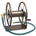 Liberty Garden Products 703-T Hose Reel, Wall-Mount, Heavy Steel, Holds 200-Ft.