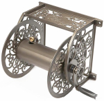 Liberty Garden Products 705 Hose Reel, Wall-Mount, Powercoat Aluminum, Holds 125-Ft.