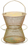 Woodstream HG00310 Brass Hourglass 2-Tier Bird Feeder