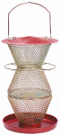 Woodstream RB300334 Red/Brass 3-Tier Wild Bird Feeder