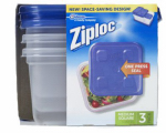 S C Johnson Wax 70937 Food Storage Container, 5-Cup Square, 3-Ct.