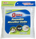Quickie Mfg 491-16PDQ Re-Usable Microfiber Cloths, 12 x 12-In. 16-Pk.