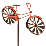 Panacea Products 87059 Spinner Lawn Ornament, Red Bicycle, 52 x 23-In.