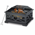 Shinerich Industrial SRFP 21318 Fire Bowl Pit, 30-In. Sq.