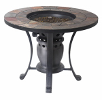 Shinerich Industrial SRGF21203 Fire Pit Converts to Bistro Table, Gas, 28-In.