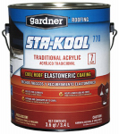Gardner-Gibson SK-7701 770 Acrylic Elastomeric Roof Coating, White, 3.6-Qts.