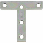 "National Mfg/Spectrum Brands Hhi N113-704 2-Pack 3 x 3-Inch Zinc ""T"" Plate"