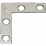 National Mfg/Spectrum Brands Hhi N113-795 4-Pack 1-1/2-Inch Zinc Flat Corner Iron