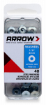 Arrow Fastener WS1/8 Washers, Steel, 1/8-In., 40-Ct.