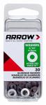 Arrow Fastener WA3/16 Washers, Aluminum, 3/16-In., 30-Ct.