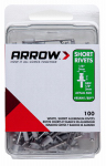 Arrow Fastener RSAW1/8IP Rivets, Short, White Aluminum, 1/8 x 1/8-In., 100-Ct.