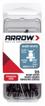 Arrow Fastener RSST1/8 Rivets, Short, Stainless Steel, 1/8 x 1/8-In., 25-Ct.