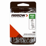 Arrow Fastener RMA1/8IP Rivets, Medium, Aluminum, 1/8 x 1/4-In., 100-Ct.