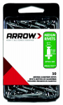 Arrow Fastener RMA3/16IP Rivets, Medium, Aluminum, 3/16 x 1/4-In., 50-Ct.