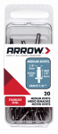 Arrow Fastener RMST1/8 Rivets, Medium, Stainless Steel, 1/8 x 1/4-In., 20-Ct.