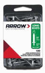 Arrow Fastener RLA1/8IP Rivets, Long, Aluminum, 1/8 x 1/2-In., 100-Ct.