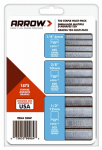 Arrow Fastener 50MP Staples Multi-Pack, 1/4, 3/8 & 1/2-In, 625-Pk. Of Each