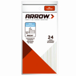 Arrow Fastener MG24-4 Glue Sticks, 4 x 5/16-In., 24-Ct.