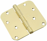 National Mfg/Spectrum Brands Hhi N830-207 Door Hinge, Interior, Round-Edge, Polished Brass, 4-In.
