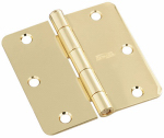 National Mfg/Spectrum Brands Hhi N830-209 Door Hinge, Interior, Polished Brass, 3.5-In.