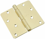 National Mfg/Spectrum Brands Hhi N830-210 Door Hinge, Interior, Polished Brass, 4-In.