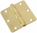 National Mfg/Spectrum Brands Hhi N830-227 Door Hinge, Interior, Satin Brass, 3.5-In.