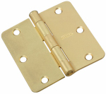 National Mfg/Spectrum Brands Hhi N830-229 Door Hinge, Interior, Satin Brass, 3-In.