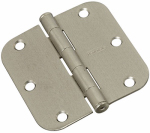National Mfg/Spectrum Brands Hhi N830-242 Door Hinge, Interior, Round-Edge, Satin Nickel, 3.5-In.
