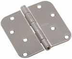 National Mfg/Spectrum Brands Hhi N830-243 Door Hinge, Interior, Round-Edge, Satin Nickel, 4-In.