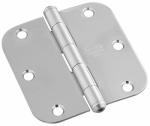 National Mfg/Spectrum Brands Hhi N830-269 Door Hinge, Interior, Round-Edge, Stainless Steel, 3.5-In.