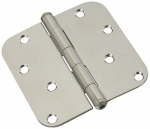 National Mfg/Spectrum Brands Hhi N830-270 Door Hinge, Interior, Round-Edge, Stainless Steel, 4-In.