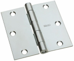 National Mfg/Spectrum Brands Hhi N830-194 Door Hinge, Interior, Square-Edge, Zinc, 3.5-In.